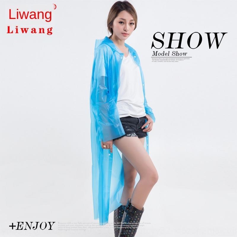 BbLUx Li Wang Capa poncho de luz de viaje engrosado los hombres al aire libre para adultos y un impermeable botón de las mujeres capa desechable