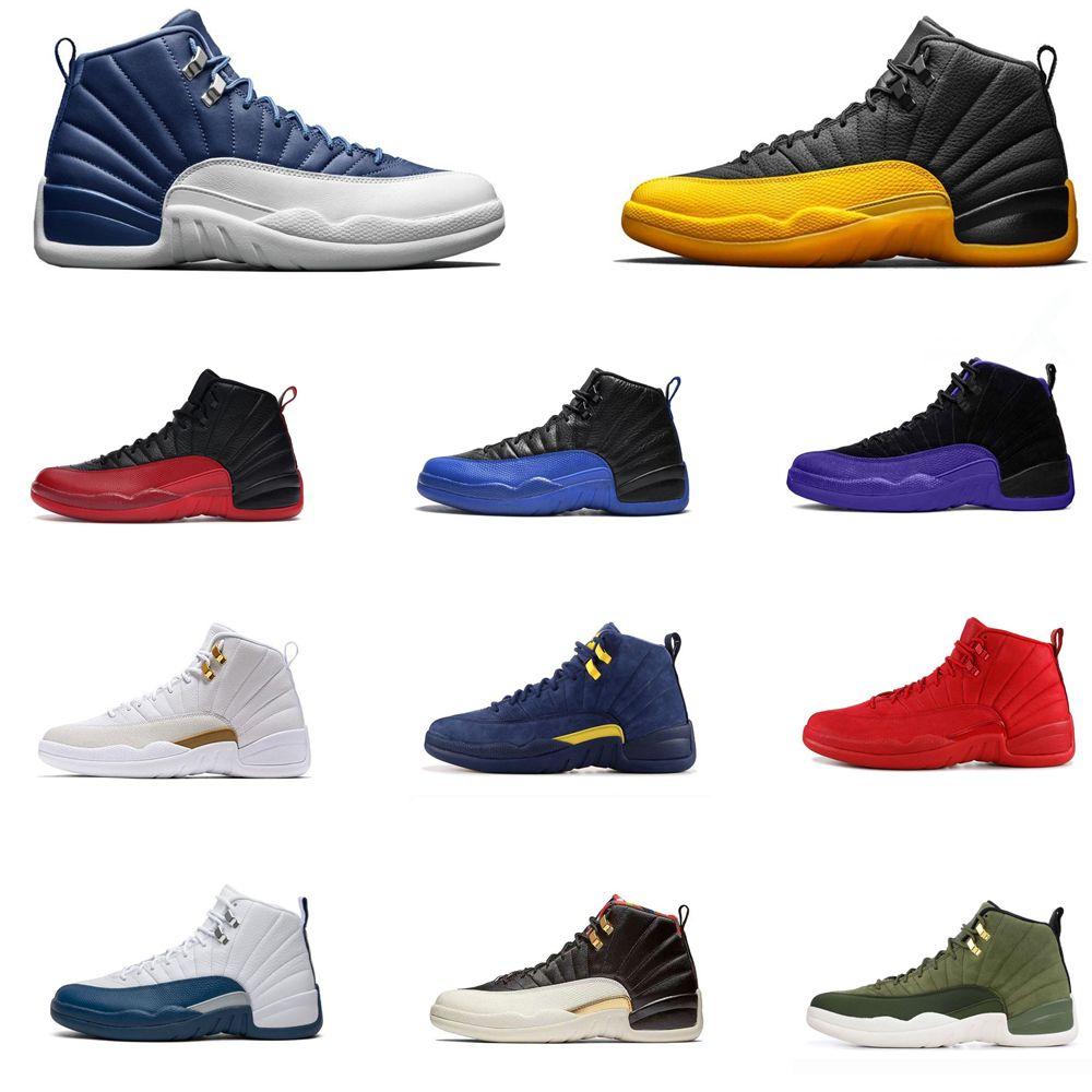 2019 Erkekler 12S Ayakkabı 12 Jumpman Üniversitesi Altın Indigo Koyu Concord Gribi Oyunu Kraliyet Master Koyu Gri Atletik Spor Sneakers