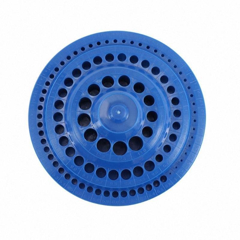 1 ПК Сверло чехол для хранения подставка круглой формы жесткий пластик Организатор 100шт Hole Деревообрабатывающий инструмент для хранения инструментов Dscq #
