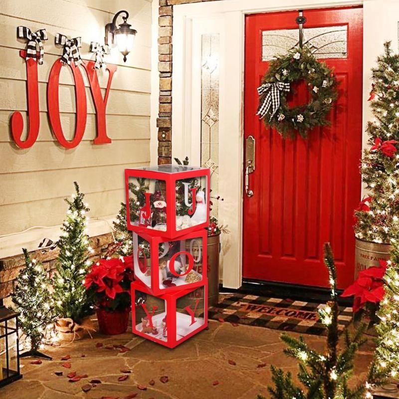 С Рождеством куклы Box украшения Новогодние украшения для домашнего дерева игрушки Навидад 2021 Новогодние подарки Xmas Noel Натал