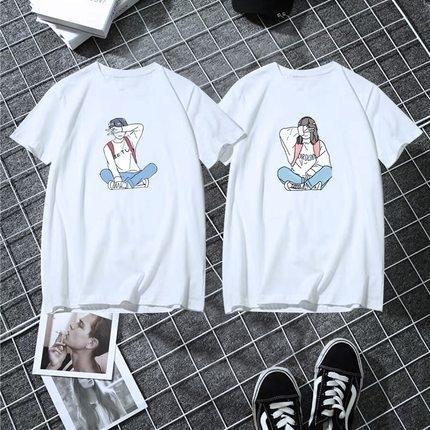 GwmTj 2020 Yaz üst ins kadın çift aşınma kısa kollu 1688 2020 Yaz üst karikatür tişört ins karikatür kısa kollu tişört kadın c
