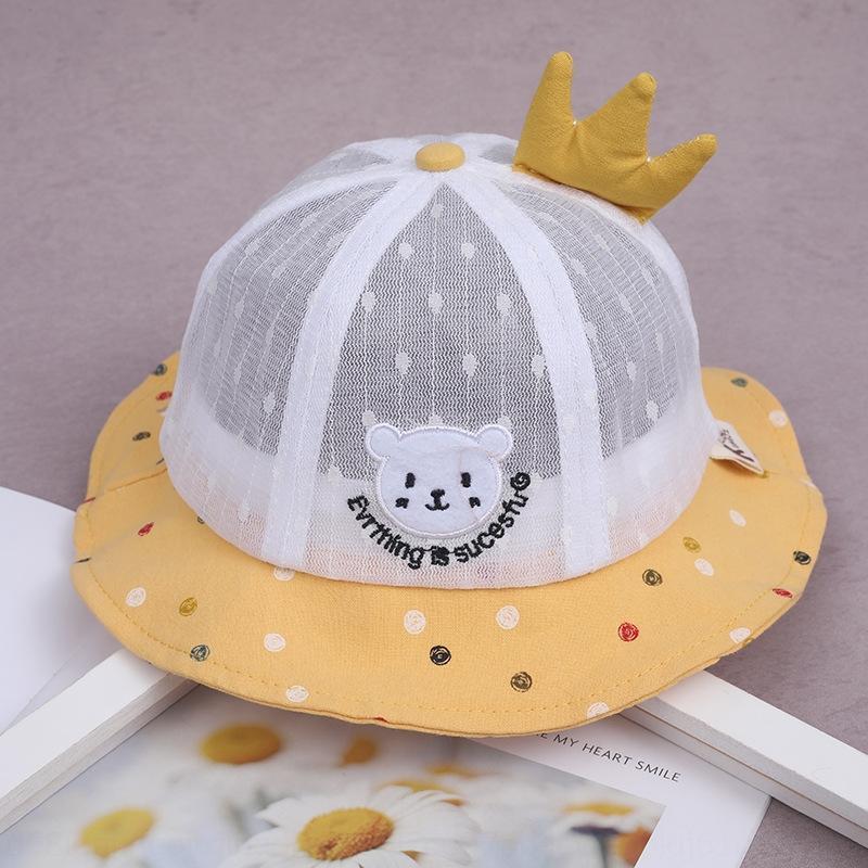 sombrero fino de primavera niña de sombrero de los niños y el verano de protección solar chica linda gorra de Super Princess verano del casquillo del bebé protección solar bebé 1lwHM 1LW