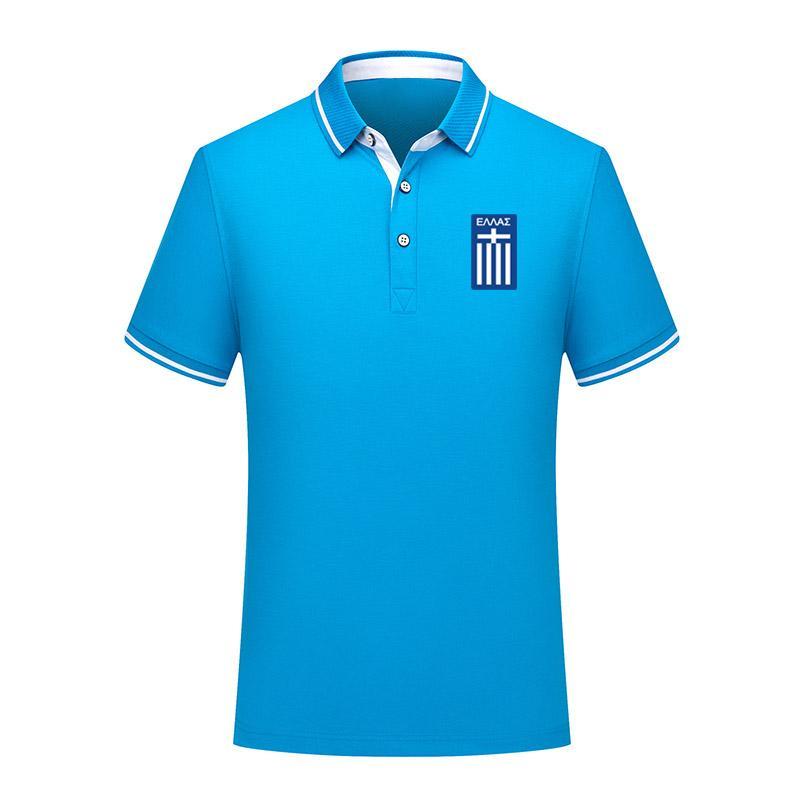 2020 Yunanistan milli takım adamlar Futbol Tişört Futbol Kısa Kollu polos Moda Spor eğitimi Polos Futbol Futbol T-Şir