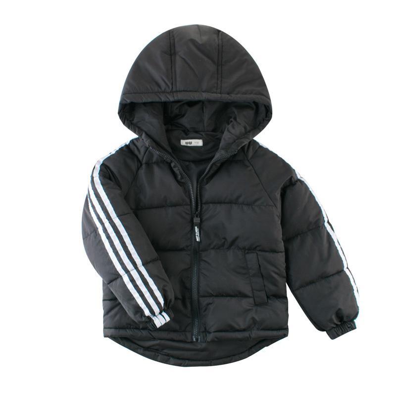 Autunno Inverno Caldo Giacche Ragazze cappotti Ragazzi Giacche neonate Giubbotteria Bambino incappucciato tuta sportiva del cappotto vestiti dei bambini LJ200831