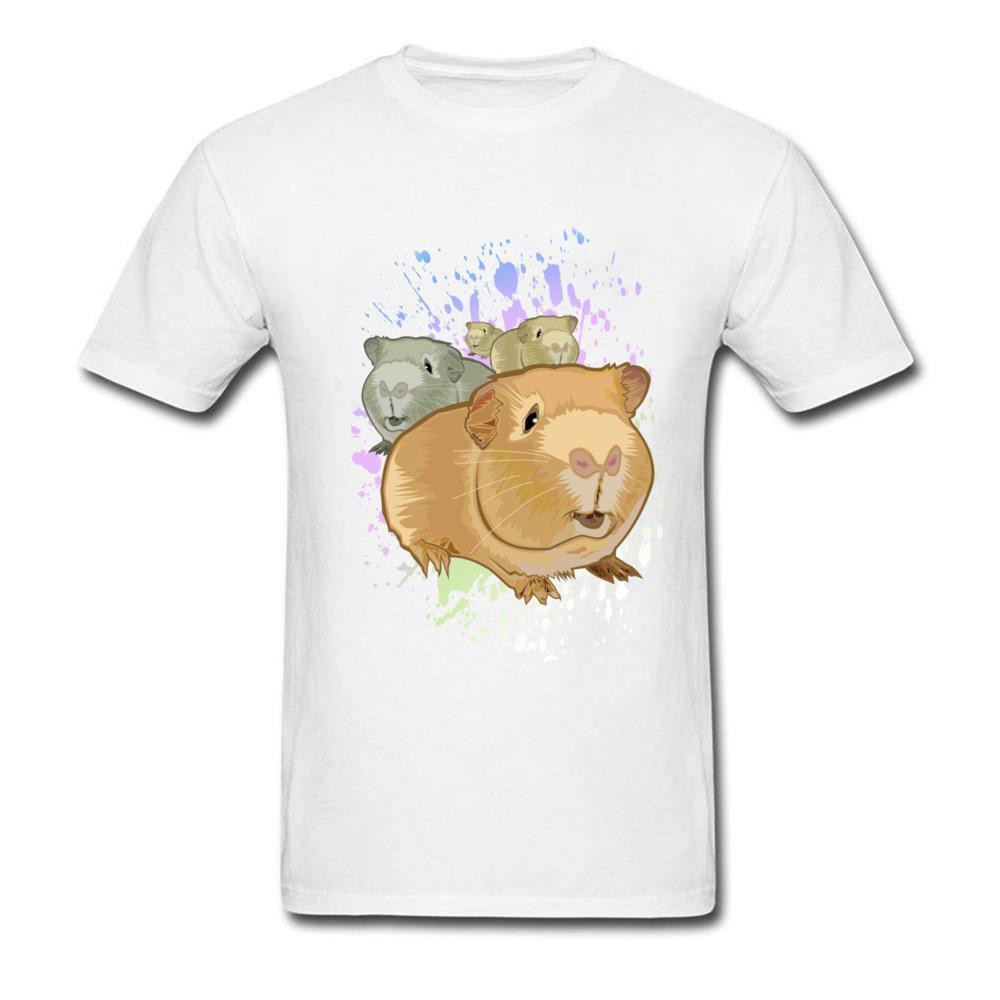 Meerschweinchen T Shirts Jugend-Sommer T-Shirt O-Ansatz kurze Hülsen-T-Shirts Nette Schweine Tier Student T-Shirt