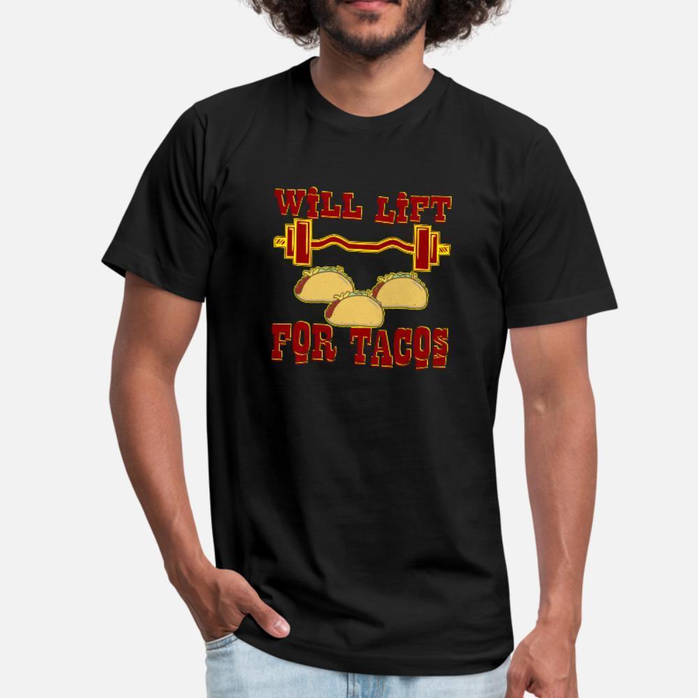 Lèverons poids pour les tacos #Usapatriotgraphics t shirt homme créer t-shirt taille plus 3XL confortable en vrac formelle Motif Summer Style