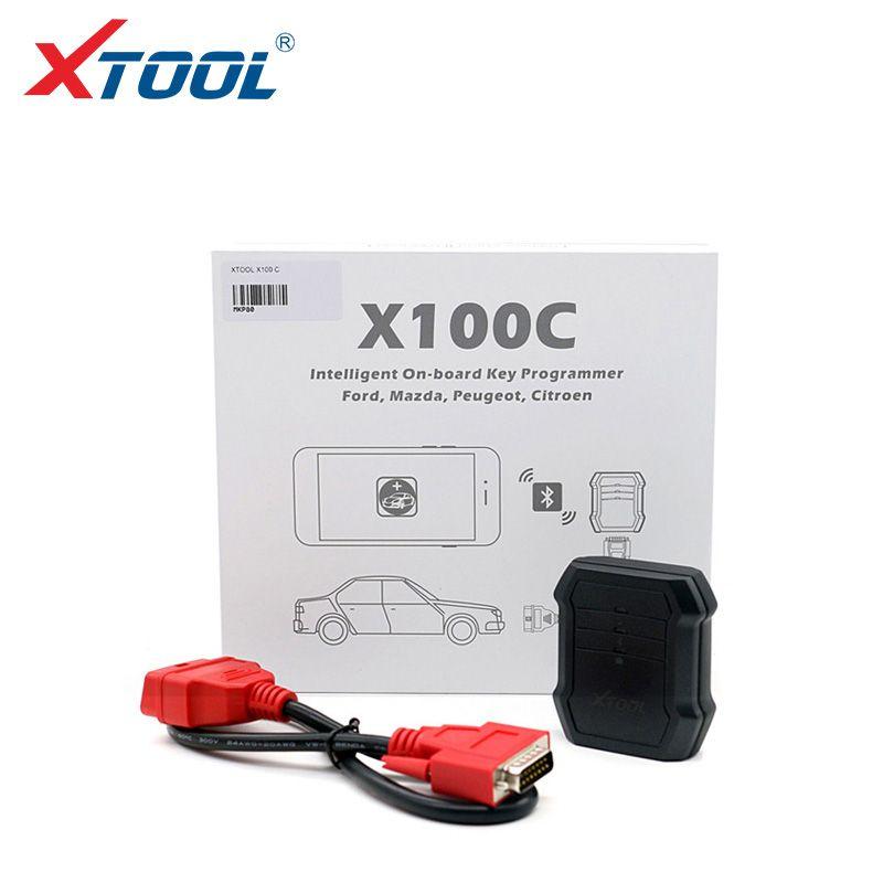 2019 Profesional X100C auto clave programador para Ford / Mazda / Peugeot / Citroen 4 en 1 lector de código pin Xtool X100C para Android IOS