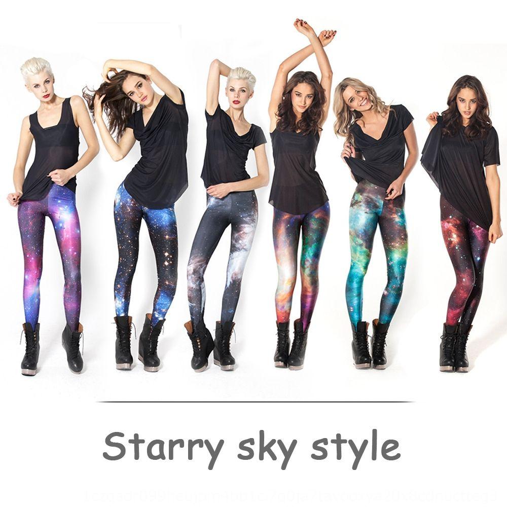 Women's starry sky printed 3D digital printed sexy fitness leggings Tight Yoga pants yoga pants for women