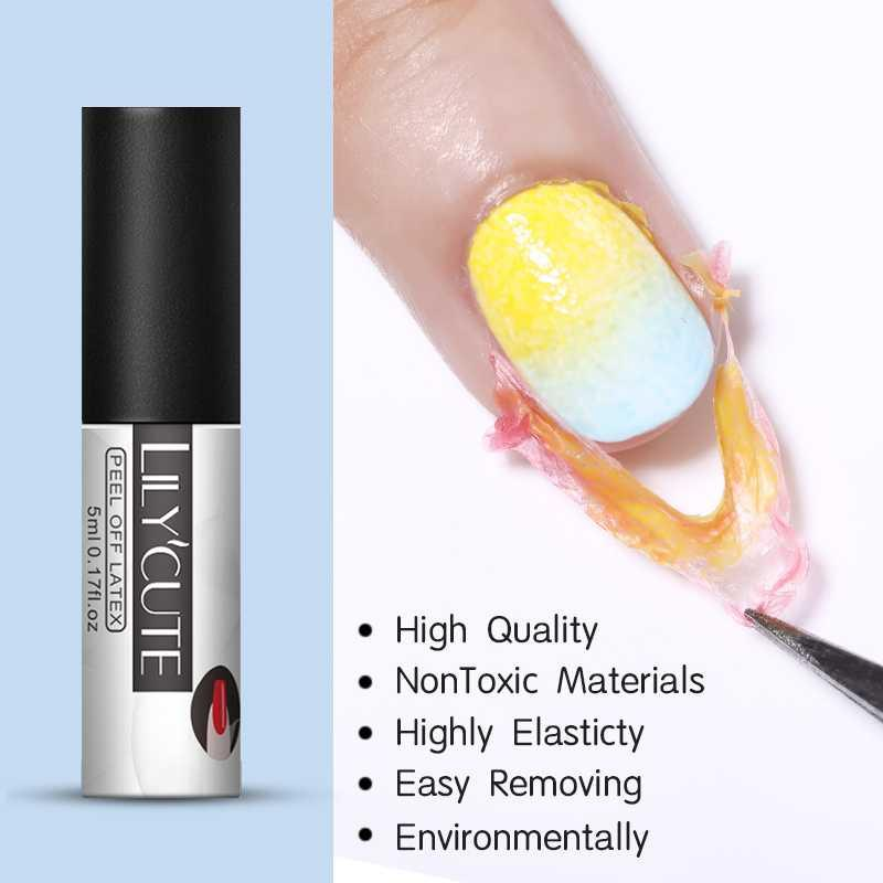 LILYCUTE 5ml Peel Off Nail Lattice Multi Function bianco inodore antigelo Strumenti Nail Art Cura Protector per timbra