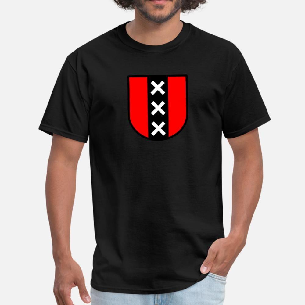 Amsterdam Tişörtlü Erkekler Kişiselleştirilmiş Pamuk Boyut S-3XL Fit Fit Komik Yaz Stil Resmi Gömlek