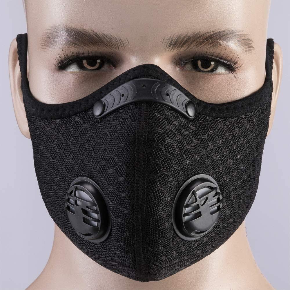 Máscara diseñador de carbón activado con el filtro de PM 2,5 anticontaminación de Deporte de la máscara de protección Formación Polvo