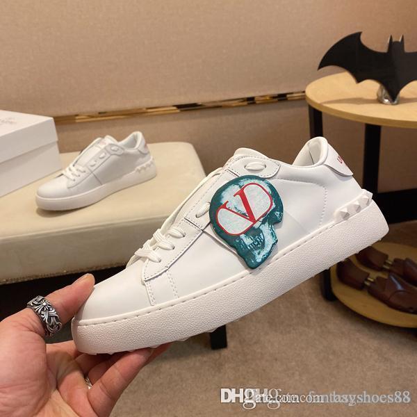 Moda designe luxo homens homens e mulheres r farelo d sapatos da moda picos sneakers treinamento planas sapatos de luxo tamanho 36-45