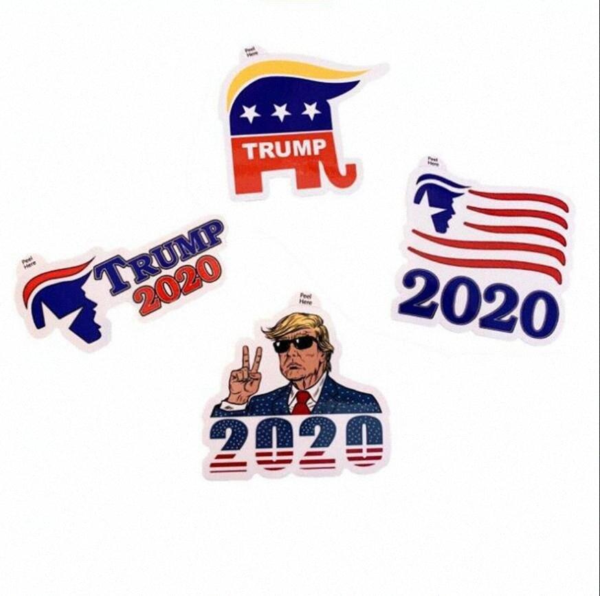 Donald Trump Etiqueta Trump 2020 4 Estilos Adesivo Decoração Adesivo Adesivos para carros Janela porta da geladeira Notebook etiqueta do carro OOA7904 xpWE #