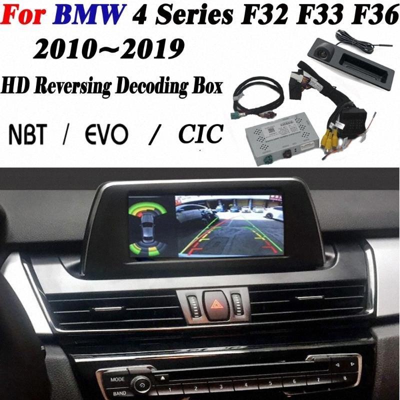 4 Serisi 2010 ~ 2019 arabirim adaptörü Orijinal Display için araç SSJB # Dekoder Ön Arka Kamera BackupParking kamera geliştirin