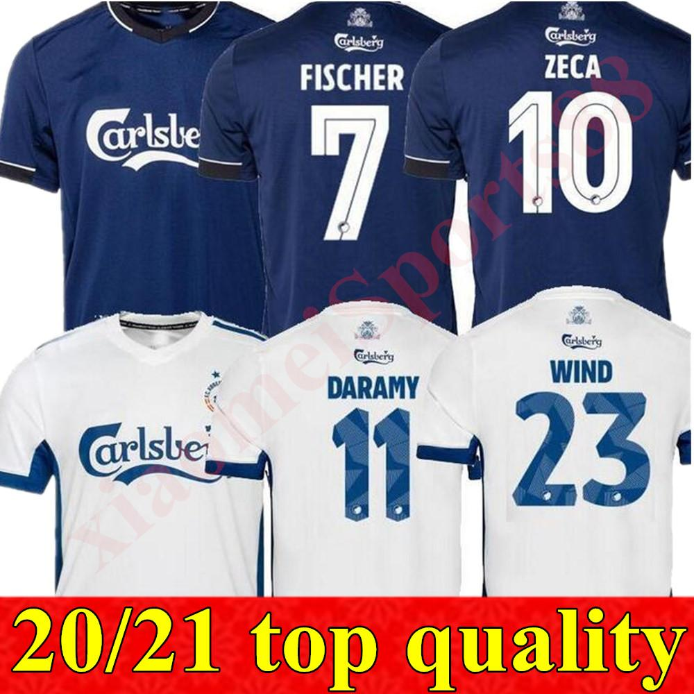 Neue 2020 2021 Kopenhagen Fussball Jersey 20 21 Home # 10 Zeca Soccer Hemd # 14 N'Doye # 29 Skov Customized Football Uniformen