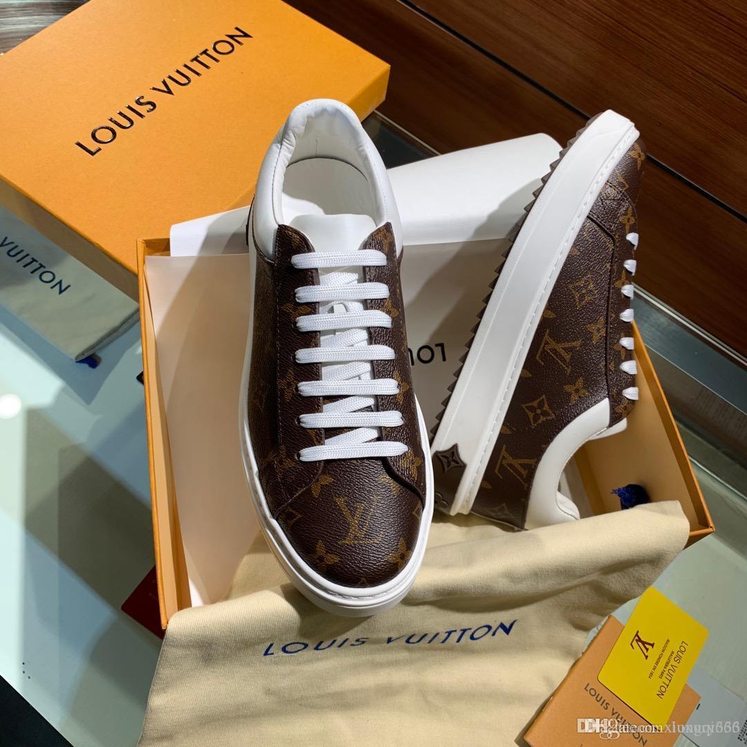 Luxus-Designer, die Männer stilvolle beiläufige Turnschuhe, bequeme wilde flache Schuhe, mit boxAS