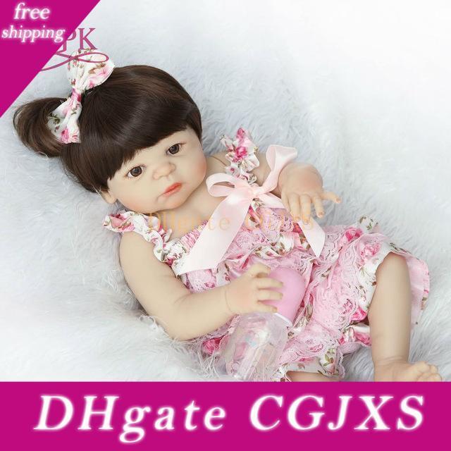 Bebes Doll Full Reborn corps Poupée silicone fille Réincarné Baby Doll Jouet de bain Lifelike nouveau-né Princesse Victoria Bonecas Menina