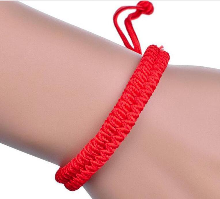 Ragazze braccialetto 100 PCS Lucky China corda rossa perline stile nazionale di Kabbalah della stringa intrecciato amicizia braccialetti registrabili