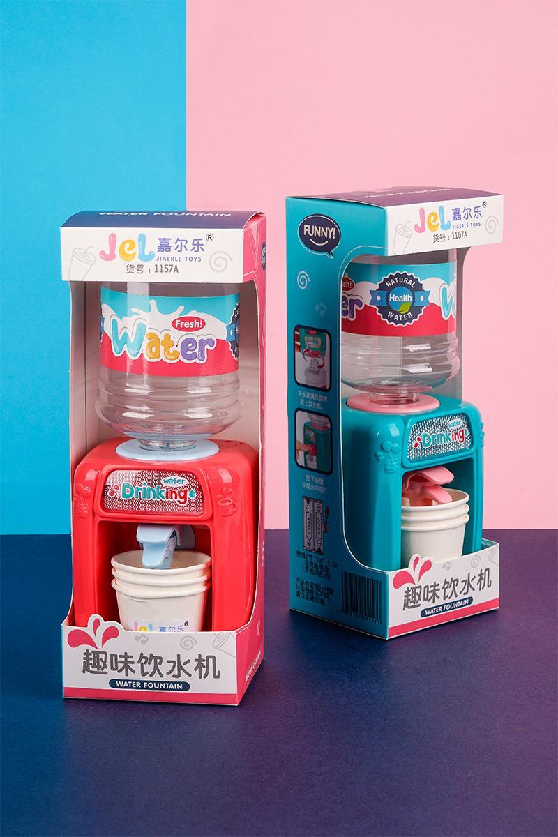 Novo e crianças interessantes jogar brinquedos divertido beber bebida fonte de mini água e cozinha água eletrodomésticos meninos e meninas