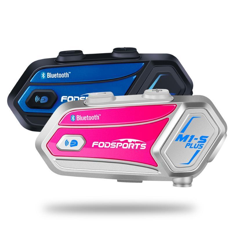 Fodsports 2 шт M1-S Plus шлет переговорные шлют мотоциклу Bluetooth гарнитура 8 всадников домофонных FM стиля любителей обмена музыки