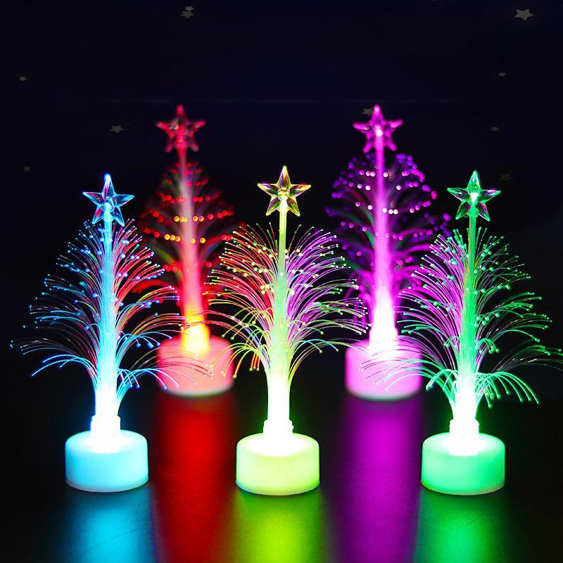 LED Noel Elyaf Serbest Havalı Renkli Renkli Fiber ağacı Işık Fiber Yılbaşı Ağacı Hediyeleri