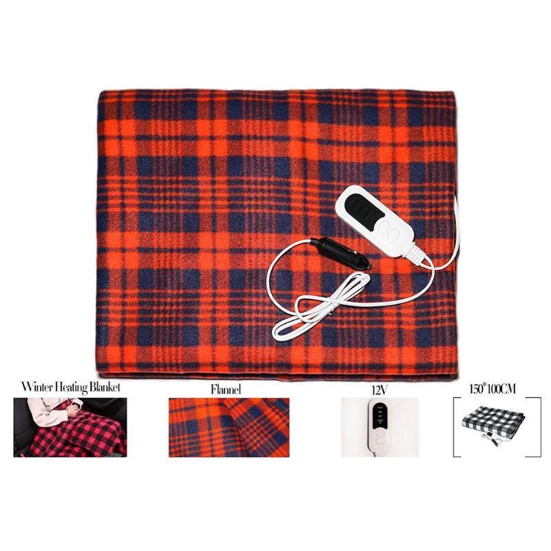 12V elétrica Blanket Thicker Blanket Heater Body Double Warmer 145x95cm aquecida termostato elétrico Aquecimento Para Truck Car
