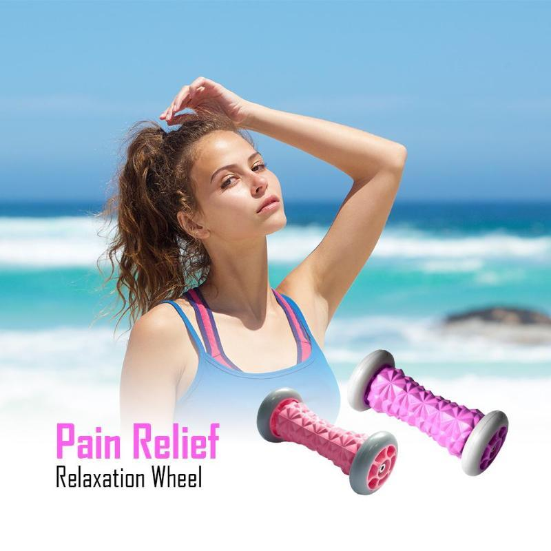 Mão Massagem com rolo Yoga roda Relaxamento Voltar Braço alívio da dor
