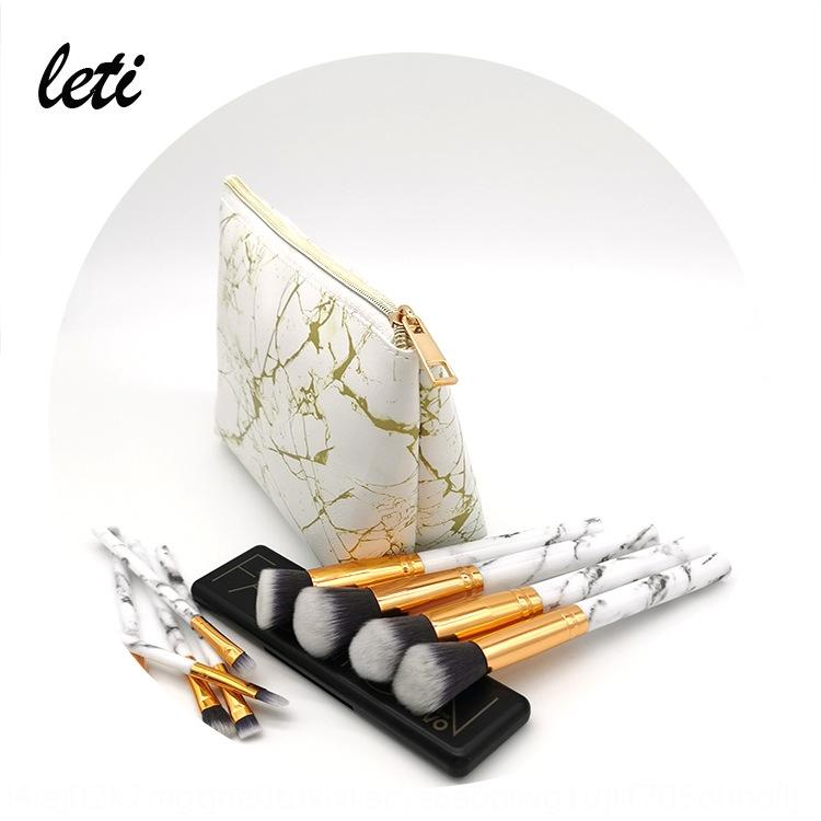 New marble Storage cosmetic golden marble makeup dumpling-shaped cosmetic storage bag portable simple wash bag hot sale