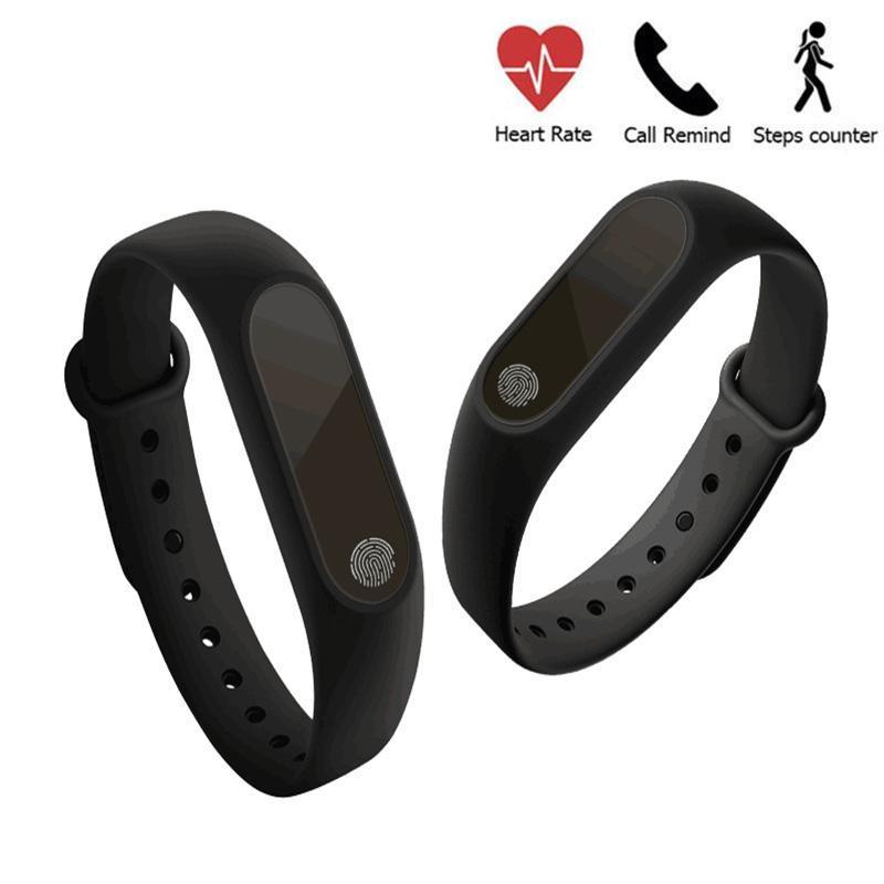 Pulsera inteligente cgjxs inteligente Muñequera M2 monitor de ritmo cardíaco podómetro impermeable Bluetooth para iOS Android Para Hombres Mujeres