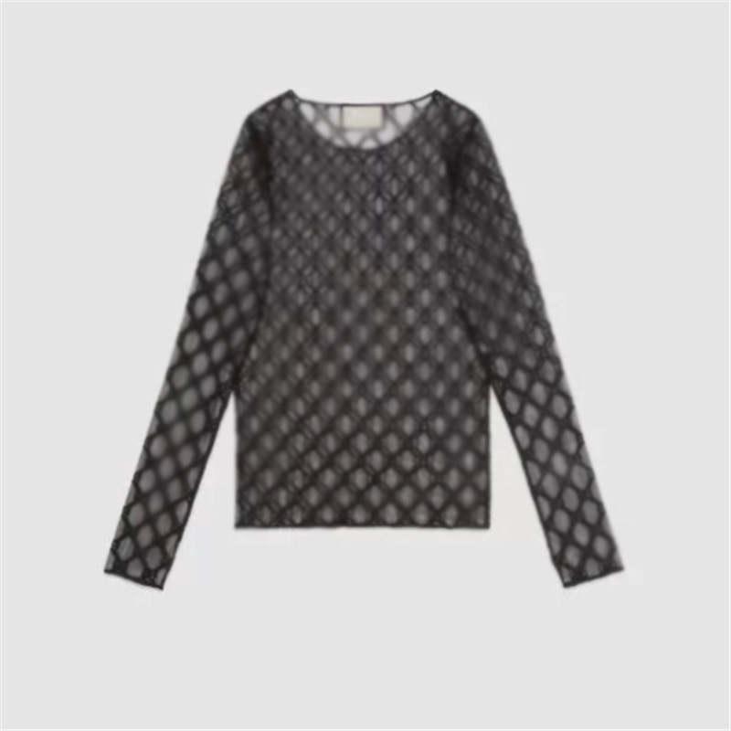 Acoplamiento atractivo de las mujeres que basa la camisa para mujer Jacquard Carta ropa ajustada tapas de las señoras respirables de protección solar ropa de niñas regalos
