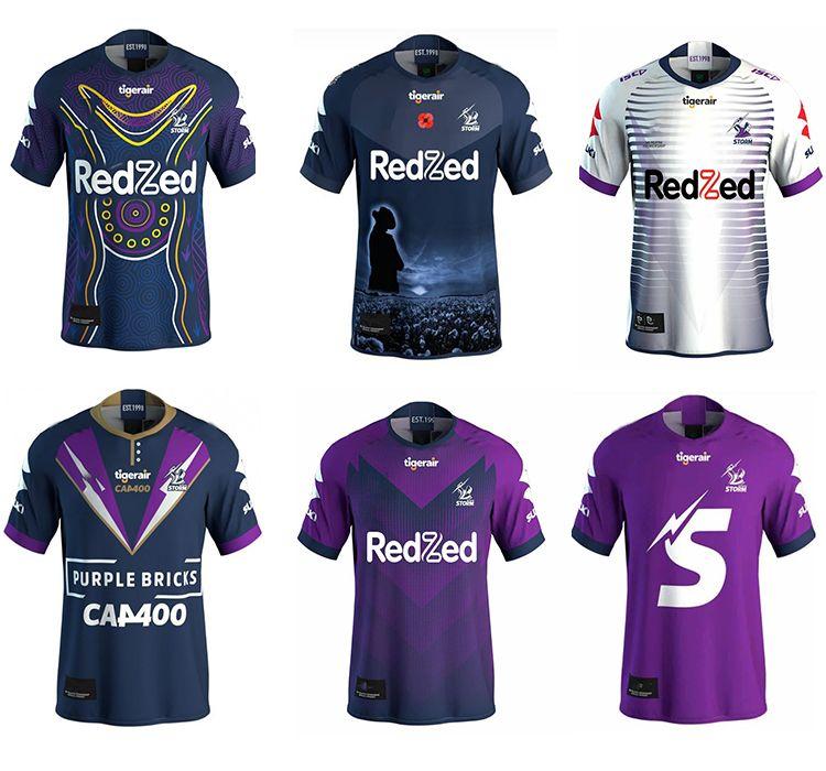 MELBOURNE STORM Rugby Jersey 2021 Indigenous Gedenk Jersey 2019 NRL Rugby League Trikots Australien Rugby League Jersey Größe S-5XL