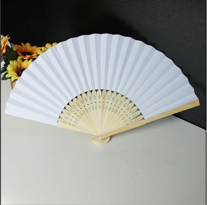 Fan Art Set Painting Diy Wooden Chinese For Collection Blank Of Chinese Fan Fans Performance 50 Stage Folding Paper CmUWr mywjqq
