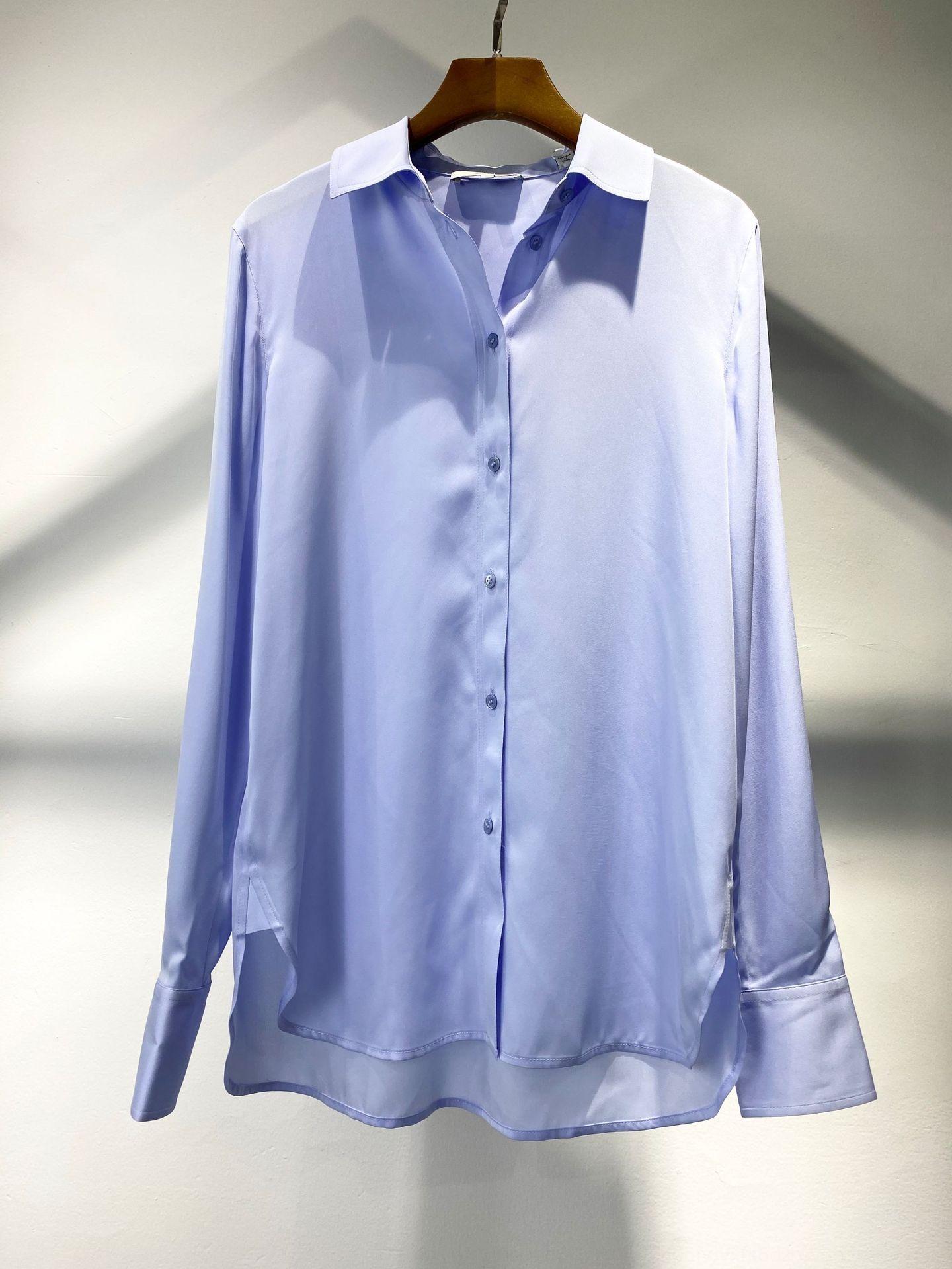 a camisa das mulheres novo kaRh0 top verão Vin Top Silk camisa mulheres casuais verão temperamento seda