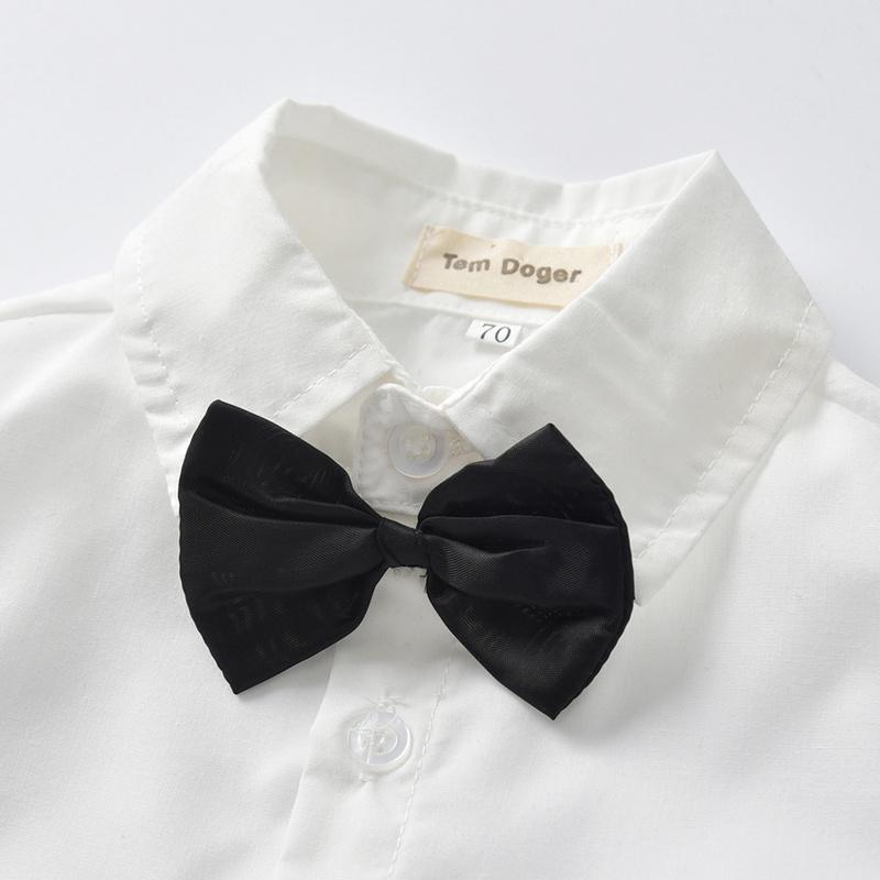 Tem Doger Boy Set di abbigliamento invernale bambino neonato vestiti appena nati Gentleman uomo vestito shirt + Vest + Pants 3PCS attrezzature per Bebes Y200807