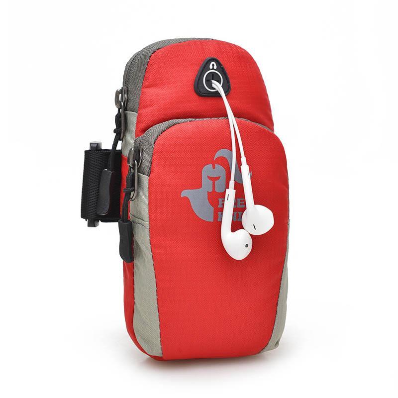 تشغيل حقيبة الهاتف المحمول حقيبة الذراع الركض الرياضة محمولة مضادة للماء حزمة في الهواء الطلق التخييم في الهواء الطلق حقيبة السفر نمط الأمريكية