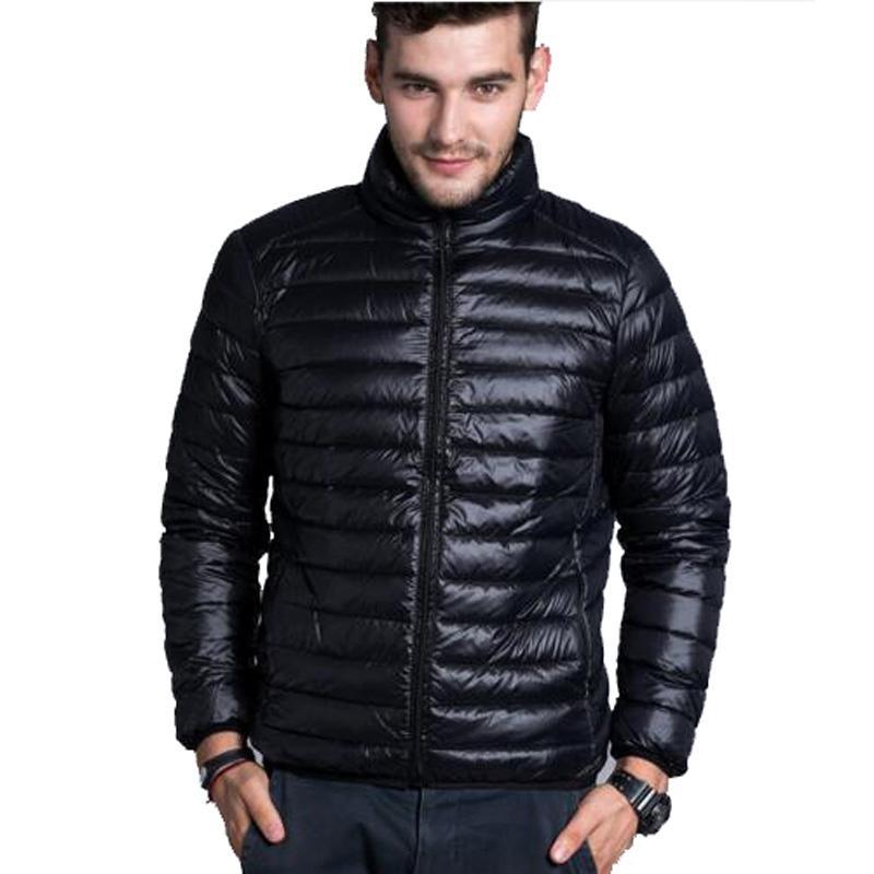 Men Winter Jacekt Men's Brand Thin Duck Down Coat Collar Casual Warm Outerwear Parka Jackets Plus Size XXXL Down Jacket 2020 NEW
