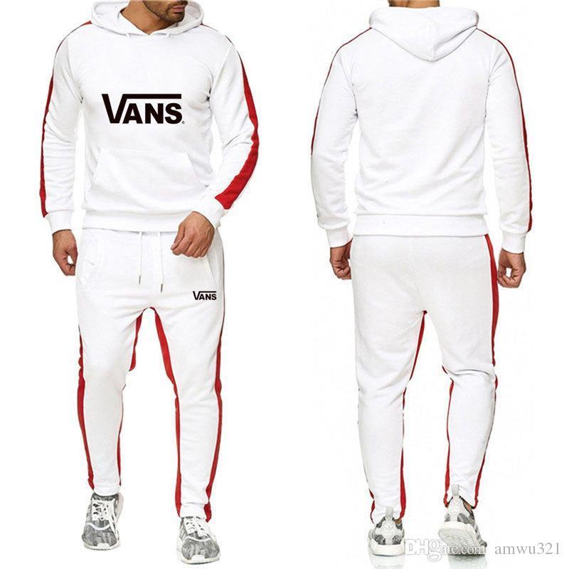 VANS Hot vente set Sweatsuit pantalons de survêtement pour hommes femmes Vêtements pour hommes Sweat-shirt Casual Tennis Sport Survêtement Survêtement