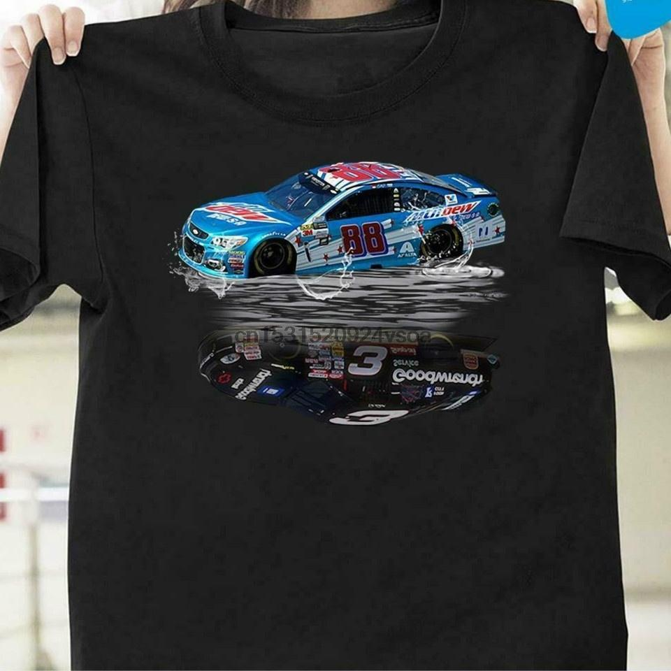 Dale Earnhardt Jr 88 Yansıma Su Ayna Sr 3 Nascar1 Tişörtlü Moda Komik Kısa Kollu Gevşek Tops