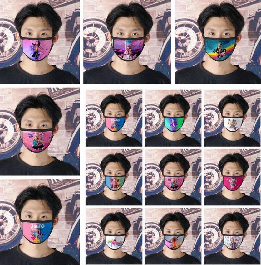 JoJo máscara boca Adulto Kids Fun Boca Muffle Máscara Quente reutilizável poeira à prova de vento Cotton Máscara 14 estilos KKA7885 HesV #