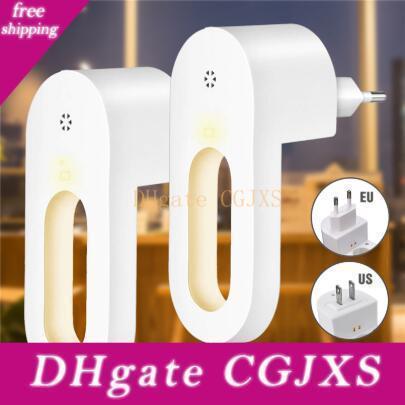 2adet Tak -In Gece Işığı Sıcak Beyaz Led Night Lights Dusk To Dawn Sensör Yatak Odası Banyo Mutfak Koridor Merdiven Eu / Bize Tak İçin