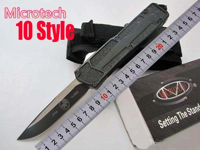 Oferta especial ! 10 estilos Microtech Troodon Scarab S / E Melhor Faca Automática Marfione Custom Troodon Facas Halo V A07 C07 Faca de Presente