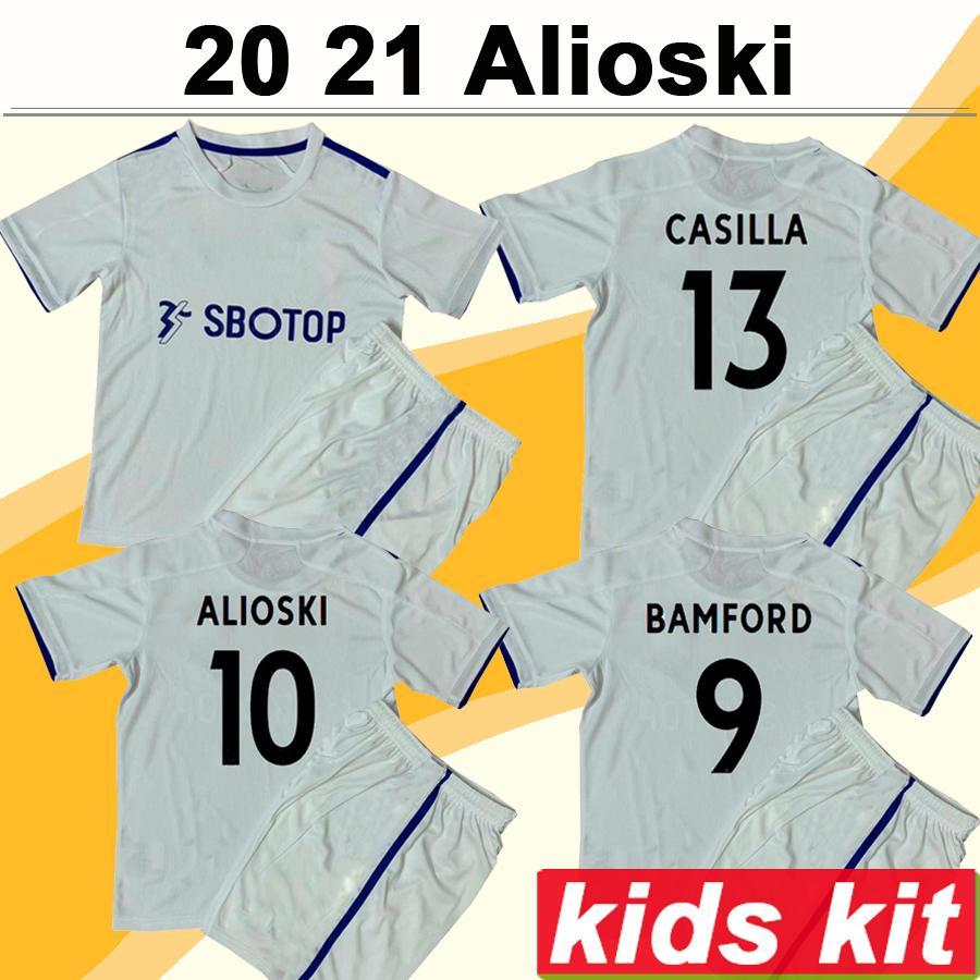 20 21 ALIOSKI PHILLIPS Kits Kit Soccer Jerseys COSTA BAMFORD CLARKE Home Away Goalkeeper Child Football Shirts HERNANDEZ Short Sleeve