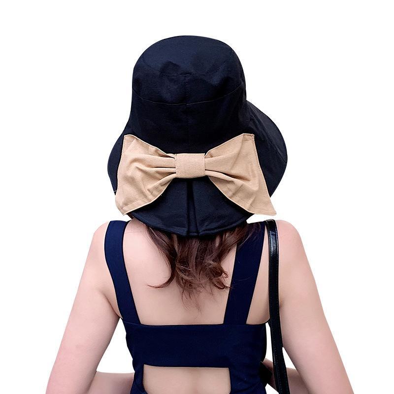 Sonnenhut Damen женщин в ВС Hat Большой лук Широкий Брим Floppy летние шляпы для женщин Пляж Панама защиты ВС Visor Femme Cap