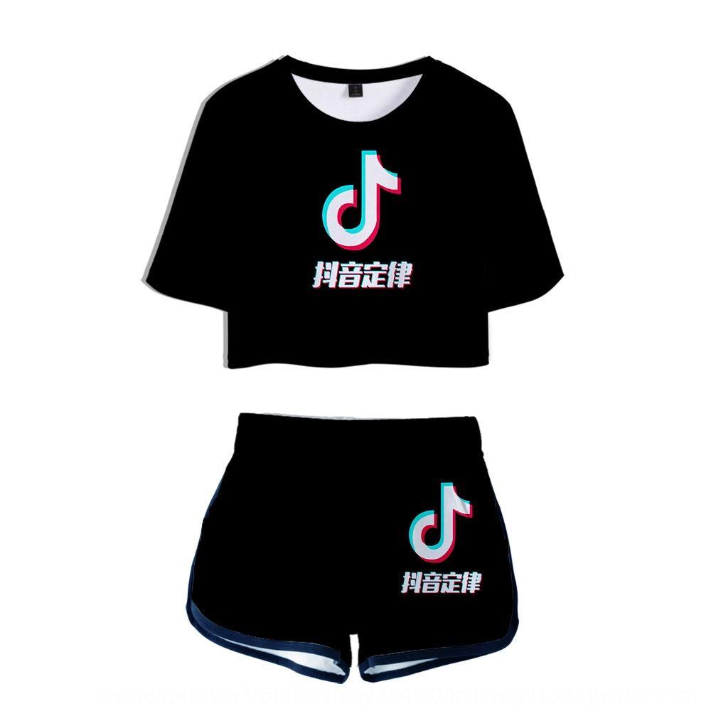 hvVXy umbigo New sacudindo 3D 2019 t-shirt para calções de manga curta T-shirt terno e mulheres I63eO calções