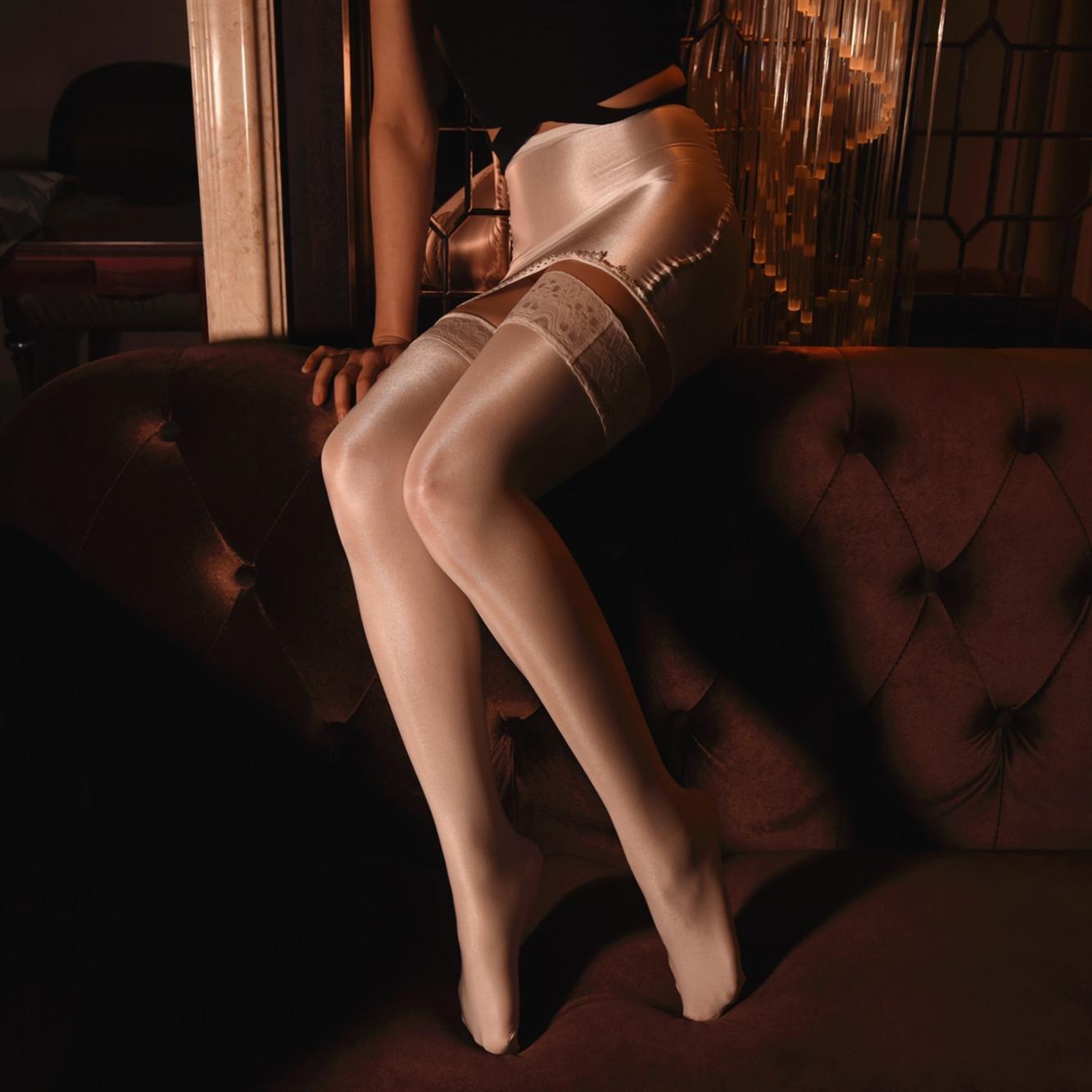 Frauen sexy sexy Unterwäsche 70D Shebin Strümpfe Hüfte bedeckte Minirock einheitliche halbe Länge transparent Nachthemd Minirock Unterwäsche