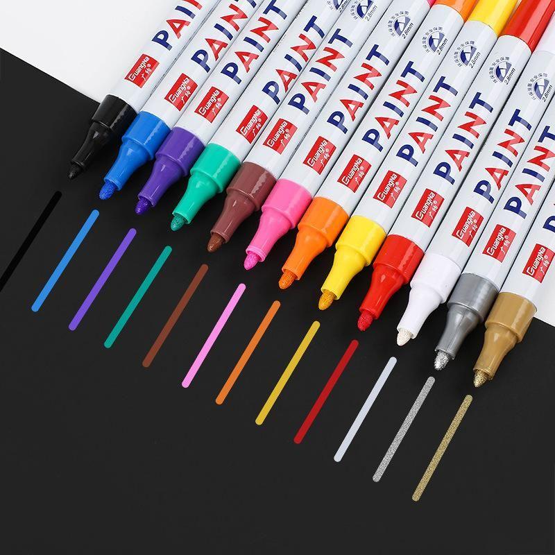 Водонепроницаемый маркер шин протектора Rubber Постоянный Non Fading Marker Pen Paint Pen Белый цвет может Marks на большинстве поверхностей DH2556 DBC