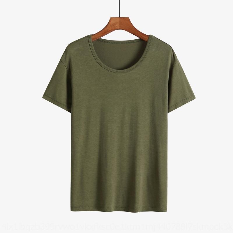 1AgX2 K07ny neuer Männer-Pyjama kurzärmeliger Fett modal Sommer dünner runder Ansatz plus Kleidung T-Shirt Kleidung nach Hause T-Shirt-Größe groß lose Leisu