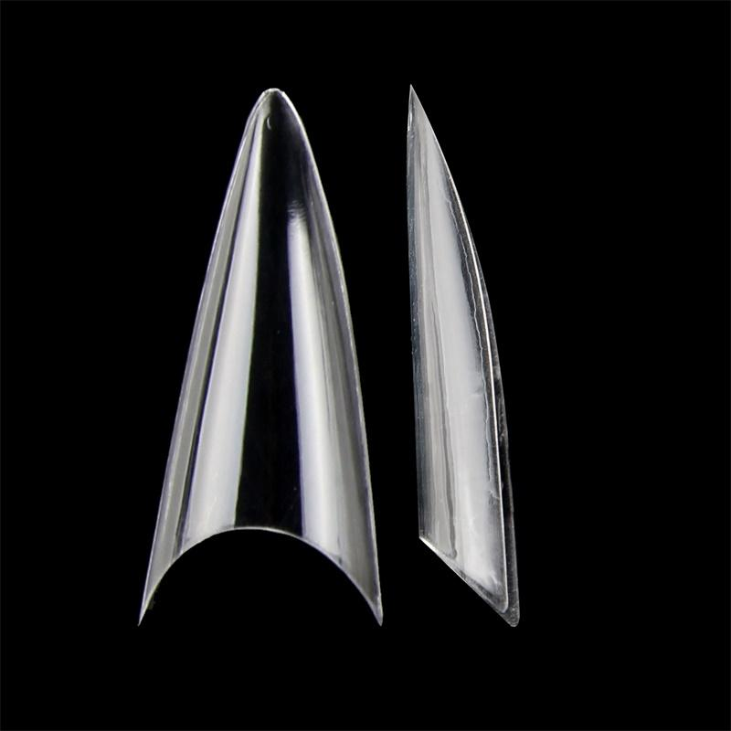 False Nails 500 шт. Полоковка Стилетто в японском стиле Поддельные ногти Искусственное искусство для ногтей Советы Salon DIY NDK-BT-P37