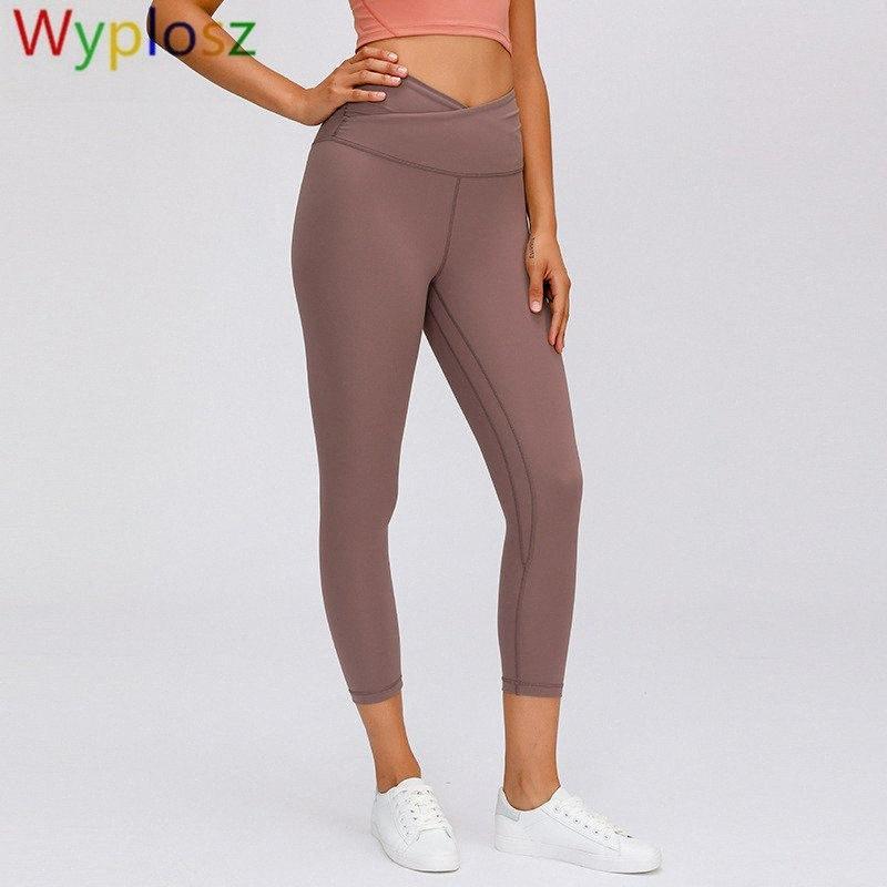 Spor Legging Fırçalama Çıplak Kalçalar Yüksek Bel Sıkı Yoga Pantolon Elastik Sıkı Gym Giyim Egzersiz Tozluklar Spor Salonu Legging 4Hv7 #