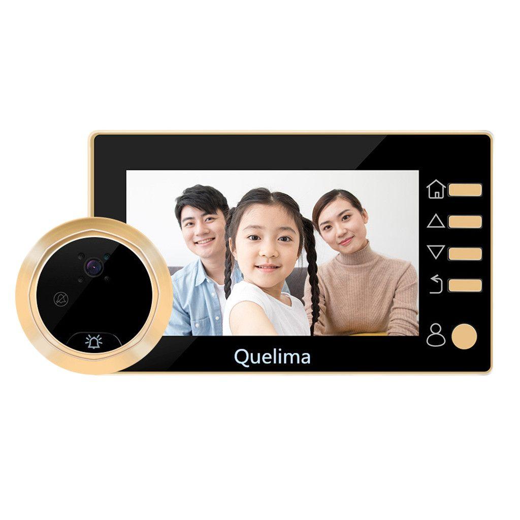 Or 4.3inch écran d'accueil Smart Electronic Sonnette judas